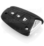 Hyundai SleutelCover - Zwart / Silicone sleutelhoesje / beschermhoesje autosleutel