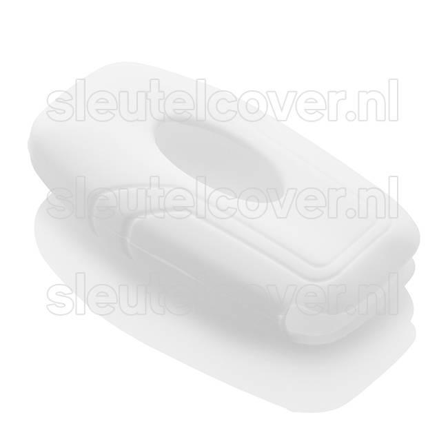 Ford SleutelCover - Wit / Silicone sleutelhoesje / beschermhoesje autosleutel
