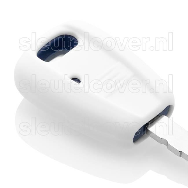 Fiat SleutelCover - Wit / Silicone sleutelhoesje / beschermhoesje autosleutel