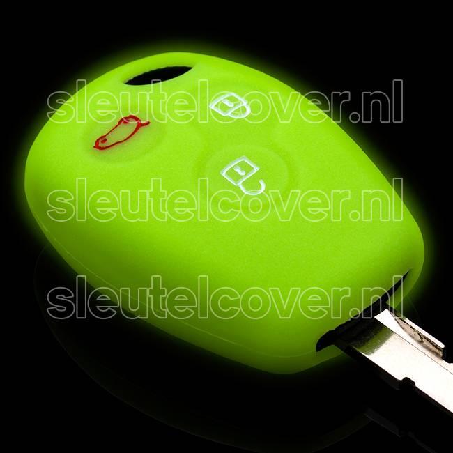 Dacia SleutelCover - Glow in the dark / Silicone sleutelhoesje / beschermhoesje autosleutel