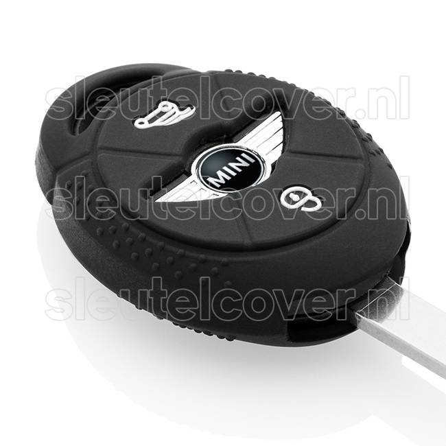 Mini SleutelCover - Zwart / Silicone sleutelhoesje / beschermhoesje autosleutel