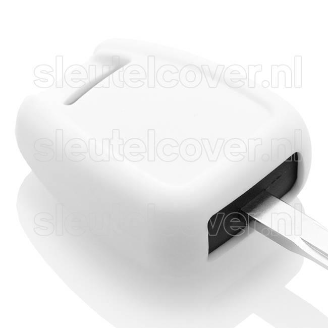 Opel SleutelCover - Wit / Silicone sleutelhoesje / beschermhoesje autosleutel
