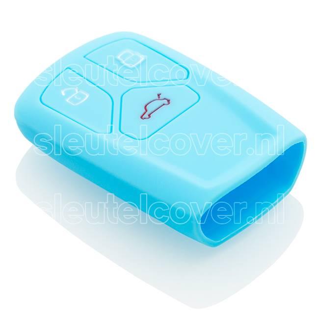 Audi SleutelCover - Lichtblauw / Silicone sleutelhoesje / beschermhoesje autosleutel