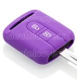 Nissan SleutelCover - Paars / Silicone sleutelhoesje / beschermhoesje autosleutel