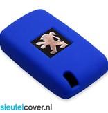 Peugeot SleutelCover - Blauw / Silicone sleutelhoesje / beschermhoesje autosleutel