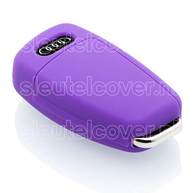 Audi SleutelCover - Paars / Silicone sleutelhoesje / beschermhoesje autosleutel