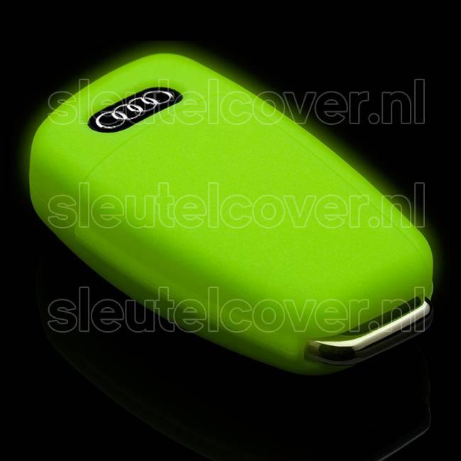Audi SleutelCover - Glow in the dark / Silicone sleutelhoesje / beschermhoesje autosleutel