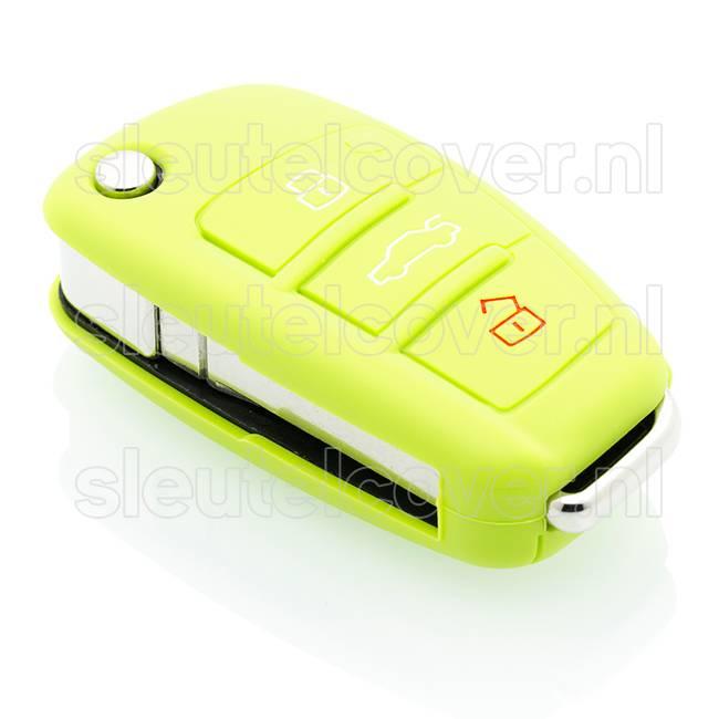Audi SleutelCover - Lime groen / Silicone sleutelhoesje / beschermhoesje autosleutel