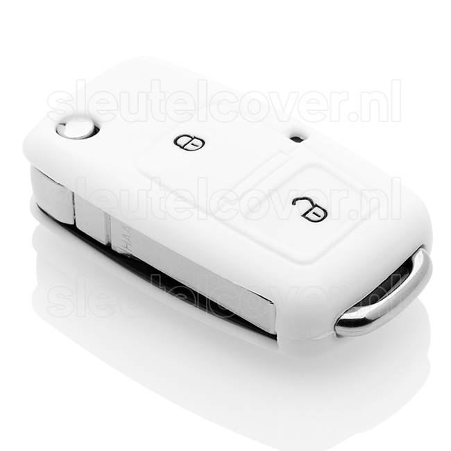 Volkswagen SleutelCover - Wit / Silicone sleutelhoesje / beschermhoesje autosleutel
