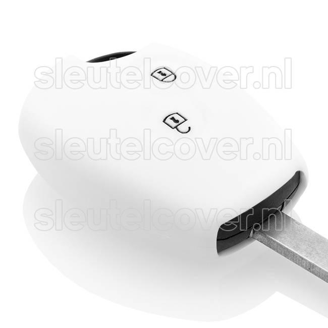 Dacia SleutelCover - Wit / Silicone sleutelhoesje / beschermhoesje autosleutel