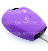 Dacia SleutelCover - Paars / Silicone sleutelhoesje / beschermhoesje autosleutel