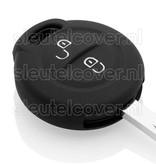 Mitsubishi SleutelCover - Zwart / Silicone sleutelhoesje / beschermhoesje autosleutel