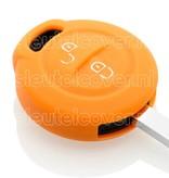 Mitsubishi SleutelCover - Oranje / Silicone sleutelhoesje / beschermhoesje autosleutel