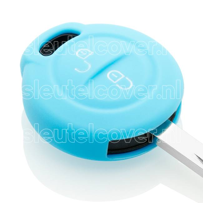 Mitsubishi SleutelCover - Lichtblauw / Silicone sleutelhoesje / beschermhoesje autosleutel