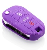 Peugeot SleutelCover - Paars / Silicone sleutelhoesje / beschermhoesje autosleutel