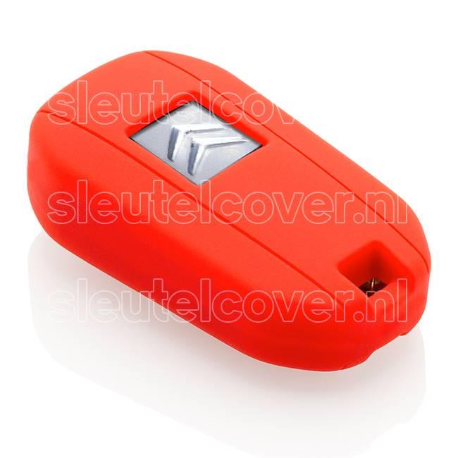 Citroën SleutelCover - Rood / Silicone sleutelhoesje / beschermhoesje autosleutel