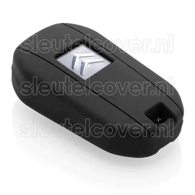 Citroën SleutelCover - Zwart / Silicone sleutelhoesje / beschermhoesje autosleutel