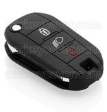 Peugeot SleutelCover - Zwart / Silicone sleutelhoesje / beschermhoesje autosleutel
