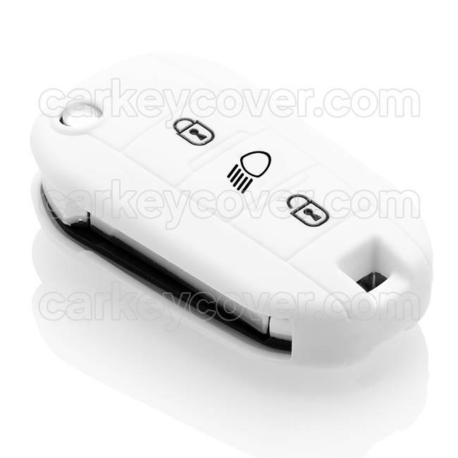 Citroën SleutelCover - Wit / Silicone sleutelhoesje / beschermhoesje autosleutel