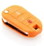 Citroën SleutelCover - Oranje / Silicone sleutelhoesje / beschermhoesje autosleutel