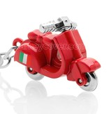 Sleutelhanger - Scooter - Vespa Italia - Rood / Silicone sleutelhoesje / beschermhoesje autosleutel
