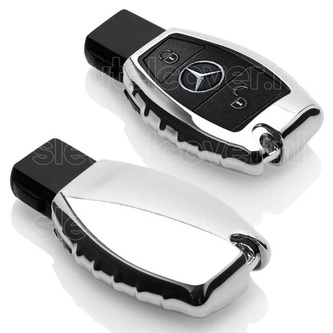 Mercedes SleutelCover - Chroom / TPU sleutelhoesje / beschermhoesje autosleutel