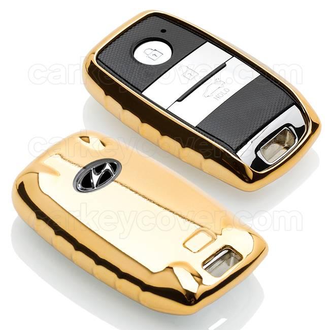Hyundai SleutelCover - Goud / TPU sleutelhoesje / beschermhoesje autosleutel
