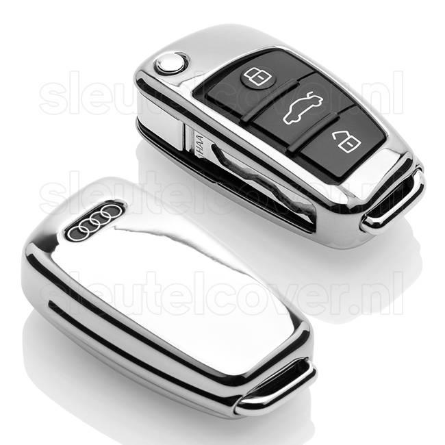 Audi SleutelCover - Chroom / TPU sleutelhoesje / beschermhoesje autosleutel
