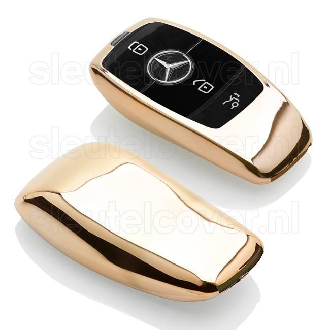Mercedes SleutelCover - Goud / TPU sleutelhoesje / beschermhoesje autosleutel