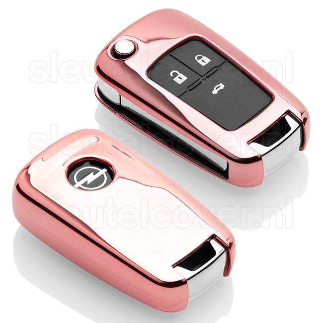 Opel SleutelCover - Rose Goud / TPU sleutelhoesje / beschermhoesje autosleutel