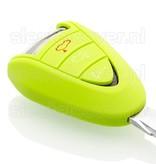 Porsche SleutelCover - Lime groen / Silicone sleutelhoesje / beschermhoesje autosleutel