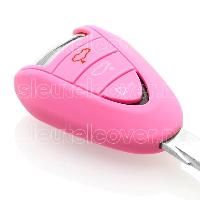Porsche SleutelCover - Roze / Silicone sleutelhoesje / beschermhoesje autosleutel