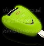 Porsche SleutelCover - Glow in the dark / Silicone sleutelhoesje / beschermhoesje autosleutel