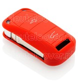 Porsche SleutelCover - Rood / Silicone sleutelhoesje / beschermhoesje autosleutel