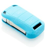 Porsche SleutelCover - Lichtblauw / Silicone sleutelhoesje / beschermhoesje autosleutel