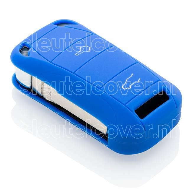 Porsche SleutelCover - Blauw / Silicone sleutelhoesje / beschermhoesje autosleutel