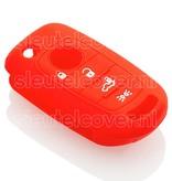 Fiat SleutelCover - Rood / Silicone sleutelhoesje / beschermhoesje autosleutel