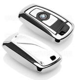 BMW SleutelCover - Chroom / TPU sleutelhoesje / beschermhoesje autosleutel