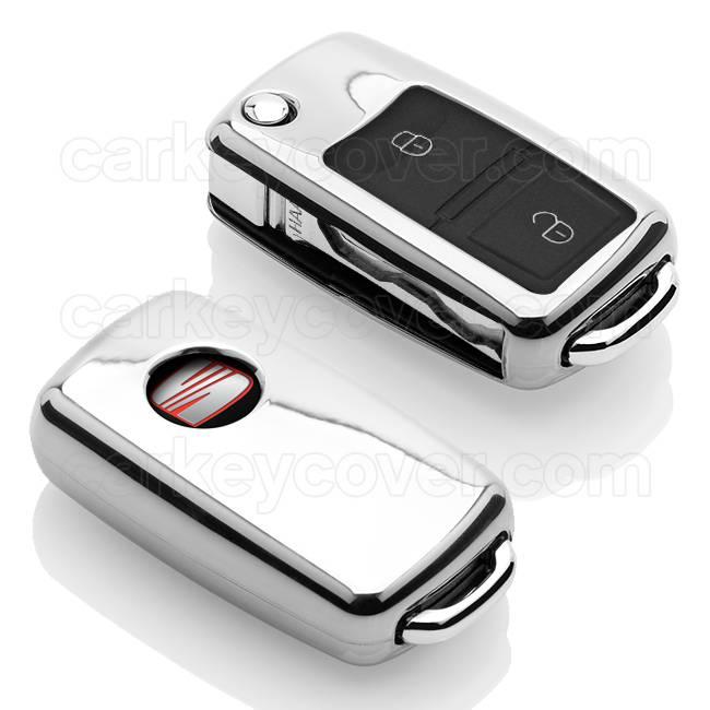 Seat SleutelCover - Chroom / TPU sleutelhoesje / beschermhoesje autosleutel