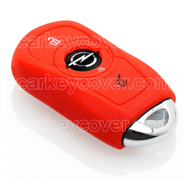 Opel SleutelCover - Rood / Silicone sleutelhoesje / beschermhoesje autosleutel