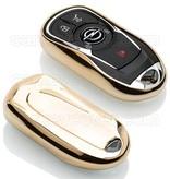 Opel SleutelCover - Goud / TPU sleutelhoesje / beschermhoesje autosleutel
