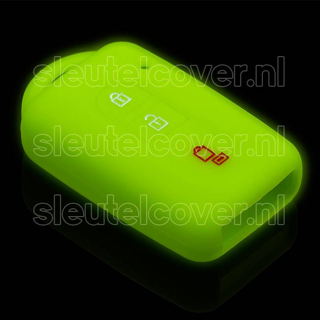 Nissan SleutelCover - Glow in the dark / Silicone sleutelhoesje / beschermhoesje autosleutel