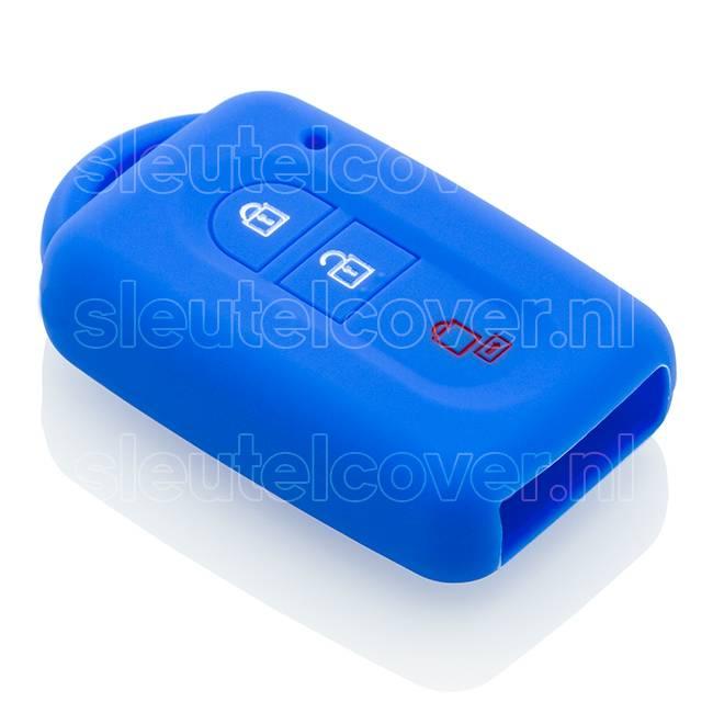 Nissan SleutelCover - Blauw / Silicone sleutelhoesje / beschermhoesje autosleutel