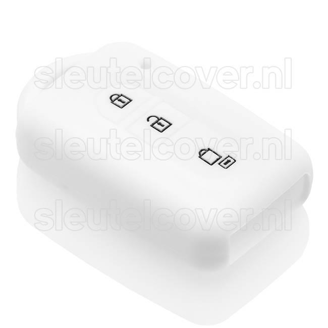 Nissan SleutelCover - Wit / Silicone sleutelhoesje / beschermhoesje autosleutel