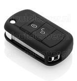 Land Rover SleutelCover - Zwart / Silicone sleutelhoesje / beschermhoesje autosleutel