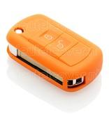 Land Rover SleutelCover - Oranje / Silicone sleutelhoesje / beschermhoesje autosleutel