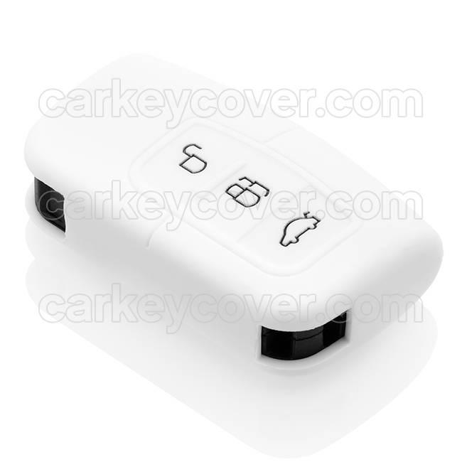 SleutelCover - Wit / Silicone sleutelhoesje / beschermhoesje autosleutel