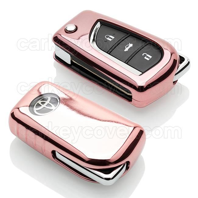 Toyota SleutelCover - Rose Goud / TPU sleutelhoesje / beschermhoesje autosleutel