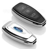 Ford SleutelCover - Chroom / TPU sleutelhoesje / beschermhoesje autosleutel