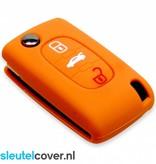 Fiat SleutelCover - Oranje / Silicone sleutelhoesje / beschermhoesje autosleutel